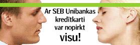SEB Unibankas reklāma
