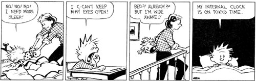 calvin: my internal clock is on tokyo time